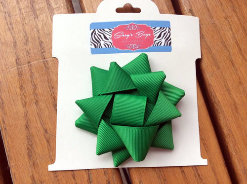 Green Christmas Present Bow Hair Bow, Present Hair Bow, Christmas Bow, Hair Bow, Christmas Hair Bow, Green Hair Bow, Holiday Hair Bow, Christmas Hair Ribbons, Christmas Hair Accessories