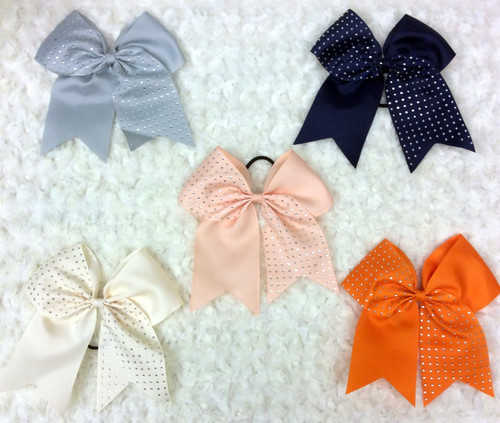 Rhinestone Cheer Bows, Cheer Bows, Solid Colored Cheer Bows, Rhinestone Cheer Bows, Solid Colored Hair Bow, Rhinestone Hair Bow, Bling Hair Bow, Cheerleading Hair Bow, Navy Bow, Ivory Bow, Orange Bow, Peach Bow, Silver Bow, Grey Bow