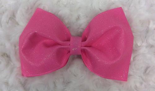 Glitter Pink Tuxedo Hair Bow, Tuxedo Bow, Tuxedo Hair Bow, Tailless Cheer Bow, Cheer Hair Bow, Pink Hair Bow, Pink Hair Clip, Pink Hair Barrette, Pink Hair Ribbons