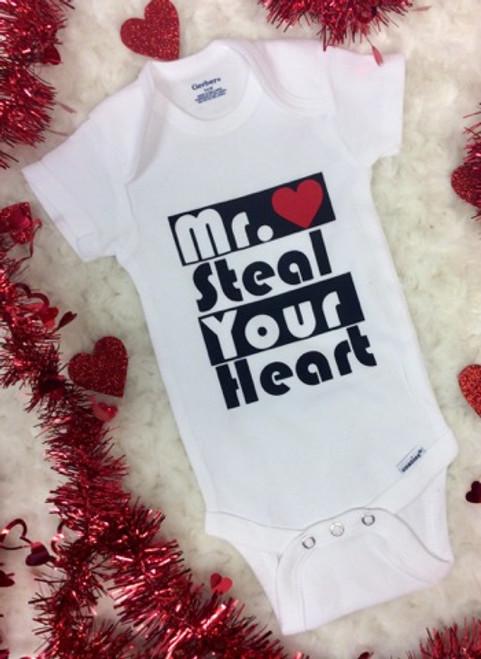 Boy S Valentine S Day Mr Steal Your Heart Onesie Boy S Valentine S