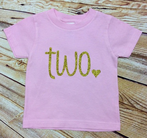 Girls Pink and Gold TWO birthday shirt, Girl's Lavender and Silver TWO birthday shirt, 2nd birthday, second birthday shirt, gold two birthday shirt, gold second birthday shirt, pink and gold, lavender and silver, birthday shirt