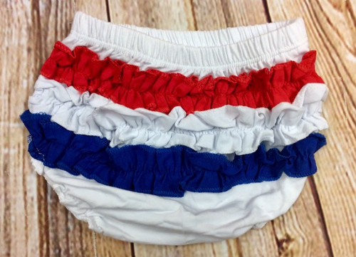 Cotton Bloomers, Cotton Diaper Cover, Patriotic Diaper Cover, Patriotic Bloomer, Red, White, And Blue, 4th Of July