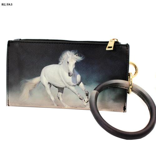 Horse Bangle Wristlet Wallet