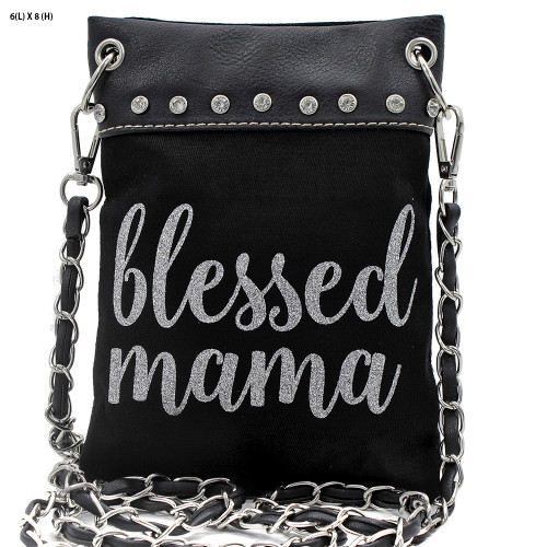 Blessed Mama Small Hipster Crossbody Bag Purse