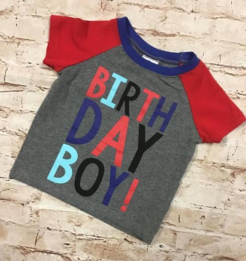 Boy's Multicolored Birthday Boy Shirt