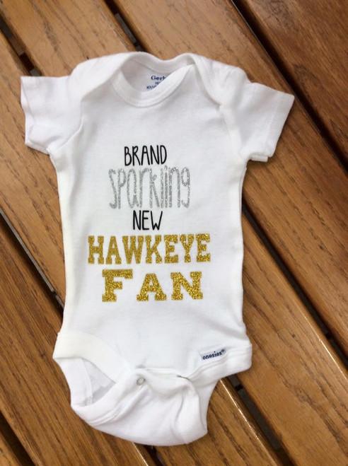 Girl's Brand Sparkling New Iowa Hawkeye Fan Onesie Bodysuit, Football, Iowa Hawkeyes, Baby Clothing