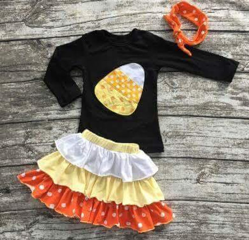 Girl's Candy Corn Cutie Boutique Outfit