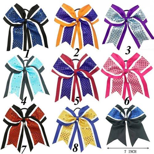 Sequin Cheer Bow, Cheer Bow, Cheerleading Bow, Hair Bow, Hair Accessories, Hair Ribbons