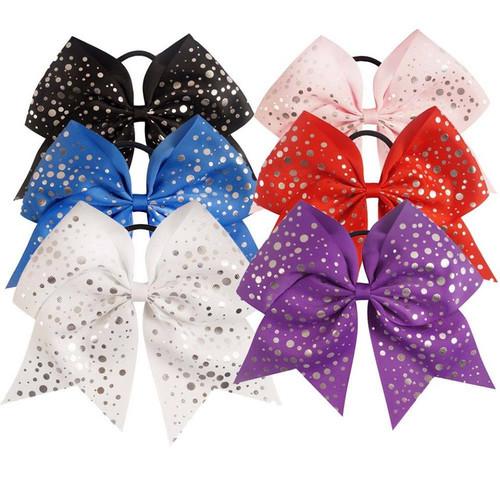 Foil Dot Cheer Bow, Cheer Bows, Hair Bows, Gymnastics Hair Bow, Hair Ribbons, Hair Accessories, Cheerleading Bows