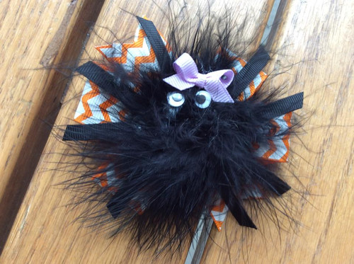 Itsy Bitsy Spider Hair Bow, Spider Hair Bow, Halloween Hair Bow, Hair Ribbons, Hair Accessories, Stacked Boutique Hair Bow