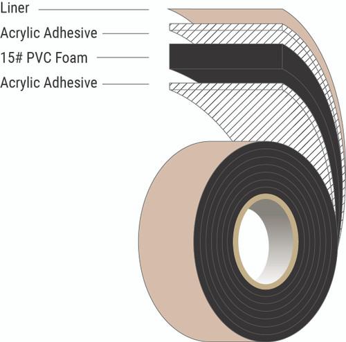 15# PVC Glazing Tape