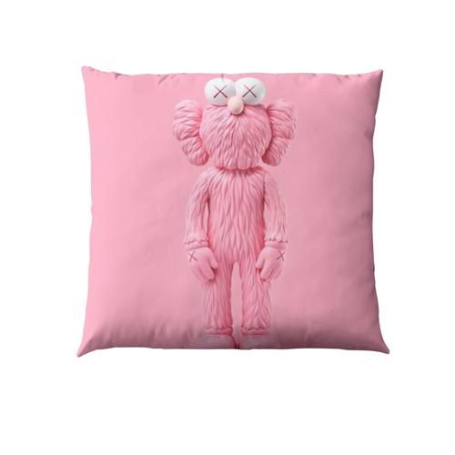 Pink Kaws pillow