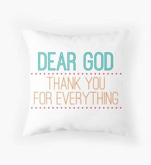 Dear God pillow