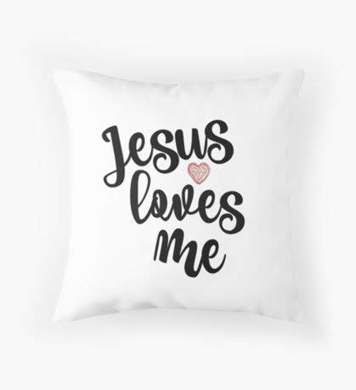 Jesus loves me pillow