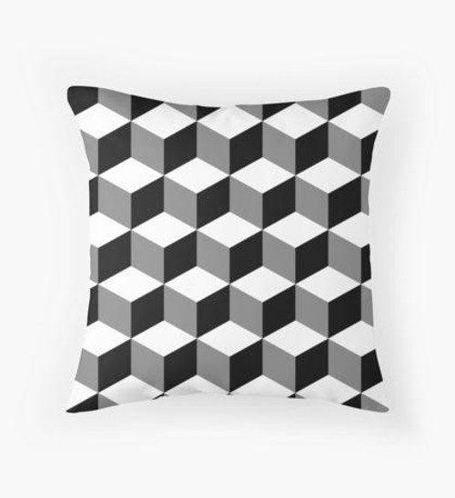 Black and white boxes Pillow