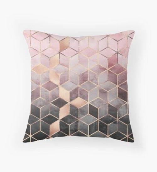 Pink ombré pillow