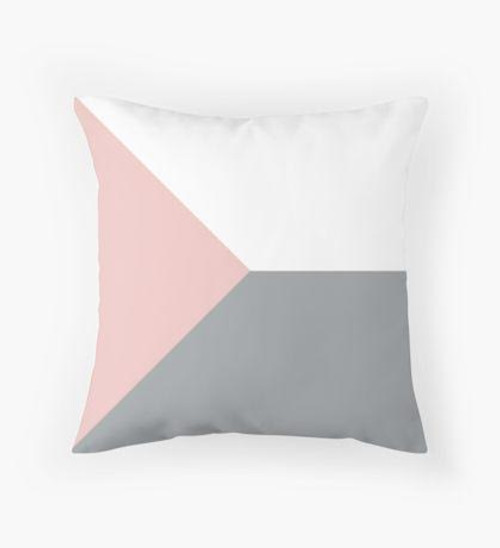 Pink white and grey Pillow