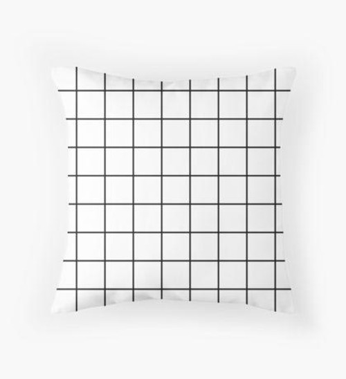 Black and white grid Pillow
