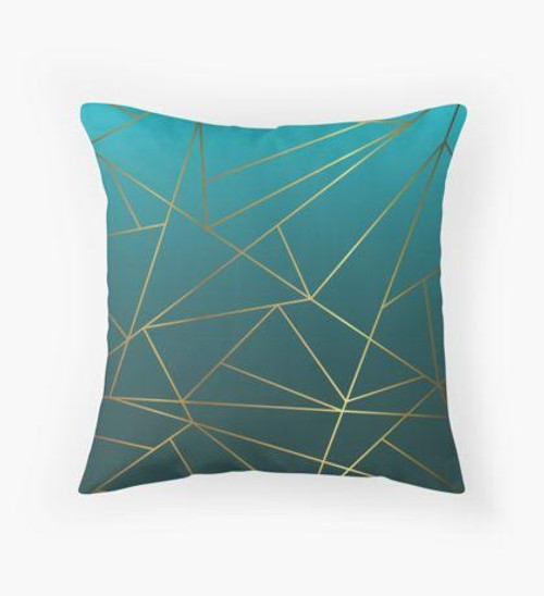 Teal ombre Pillow