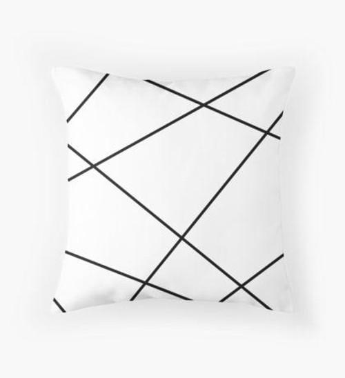 Black lines Pillow