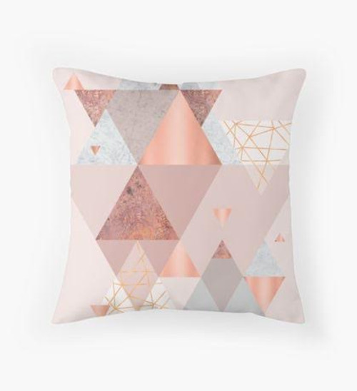 Pink triangles Pillow