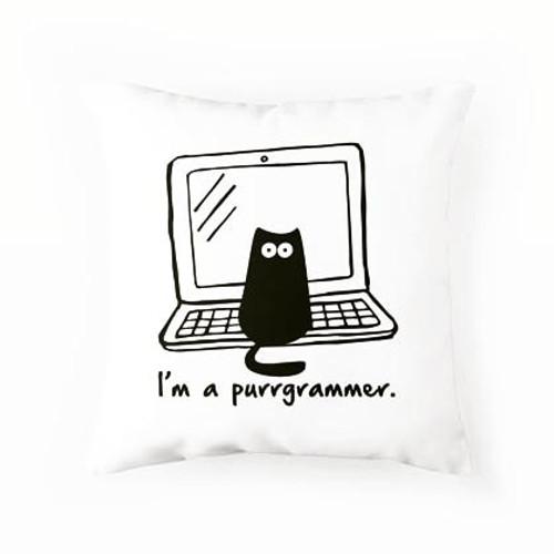 Purrgrammer Pillow