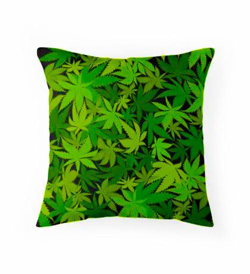 Green leaves Pillow