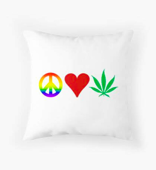 Peace love loud Pillow