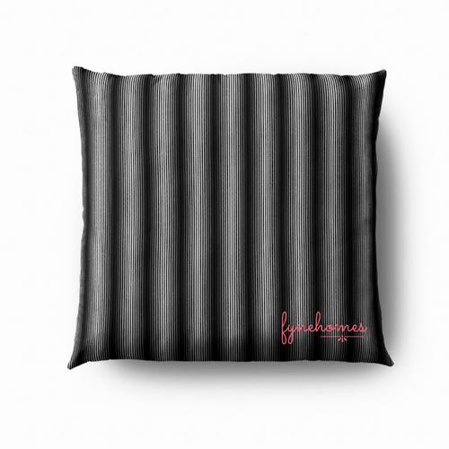 Black Optical lines pillow