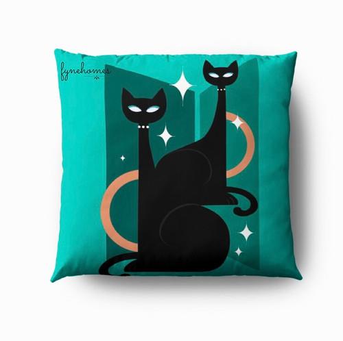 Green cat pillow