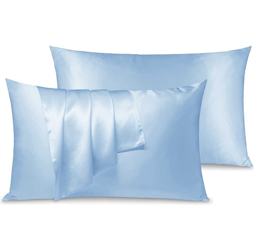 Blue Silk Pillowcase (3 pcs set)