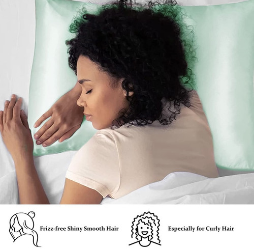 Green Silk Pillowcase (3 pcs set)