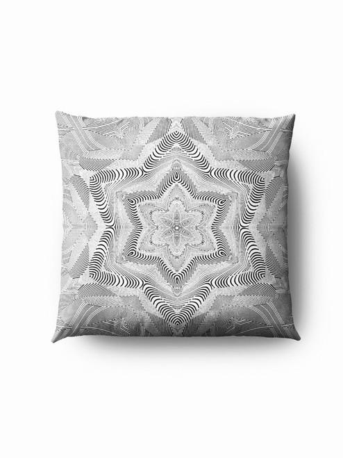 Grey flower optics Pillow
