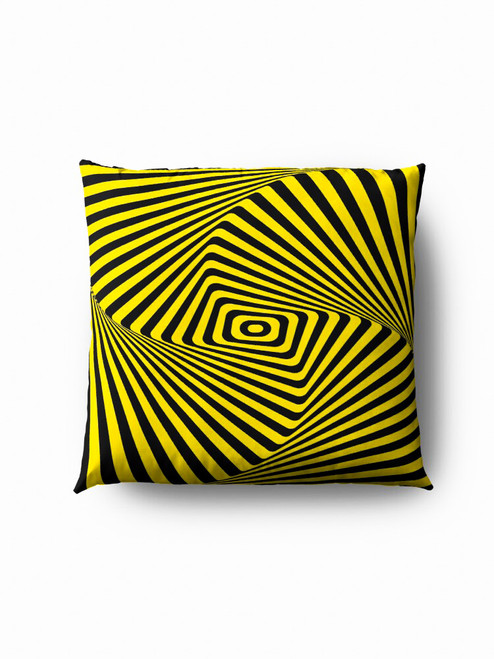Yellow wave optics Pillow