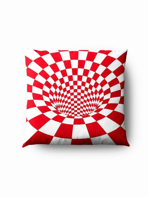 Red  hole optics Pillow