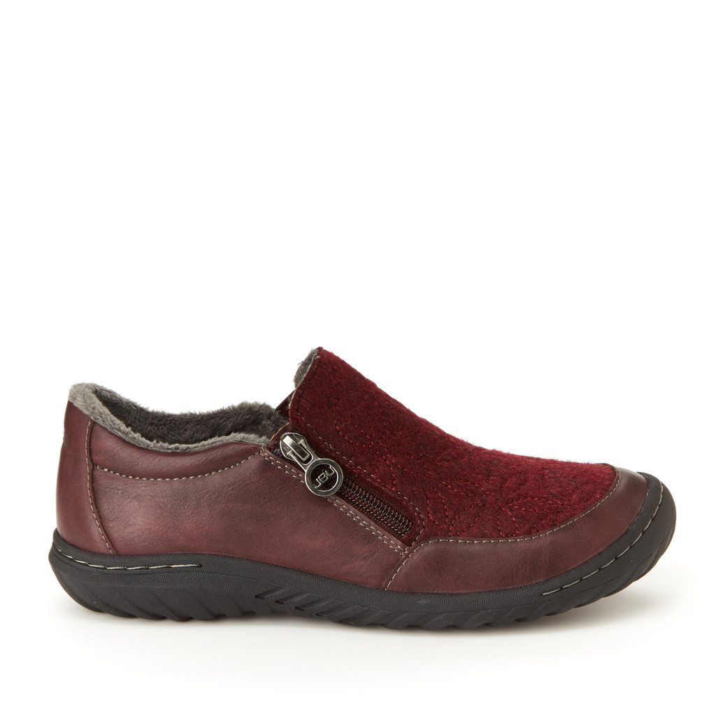 Crimson|women's vegan slip-on flat|JBU