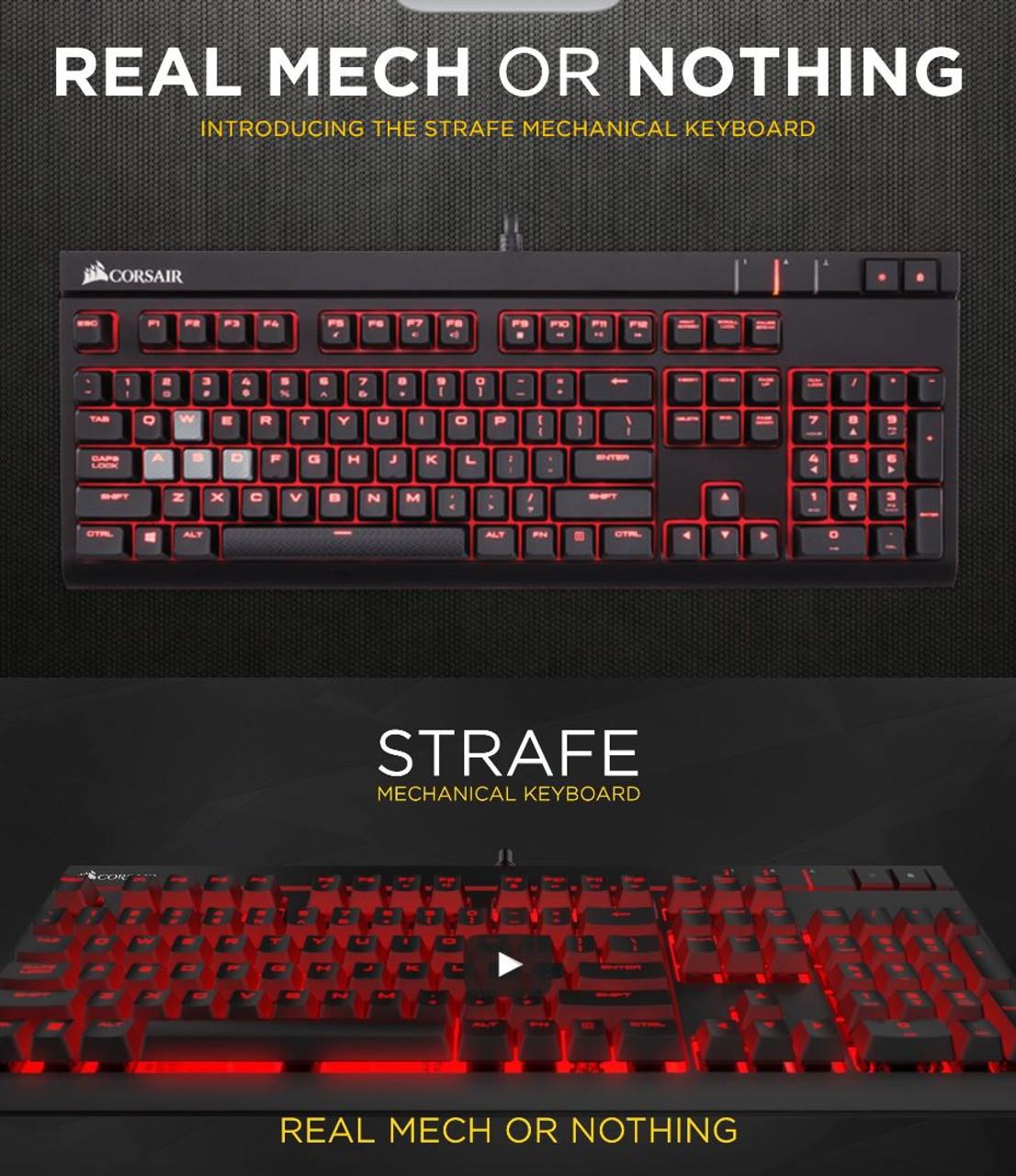 Corsair Gaming STRAFE Mechanical Gaming Keyboard Cherry MX Red