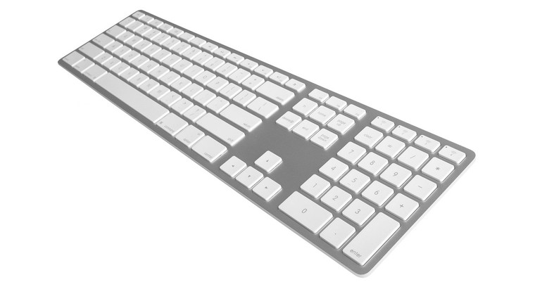 Matias Silver Wireless Aluminium Keyboard, Mac/Win, up to 4x BT