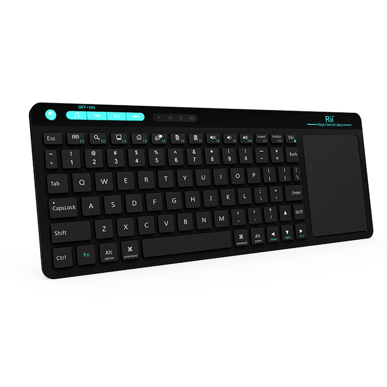 Rii K18 wireless KEYBOARD 2.4G w/mouse trackpad, rechargeable