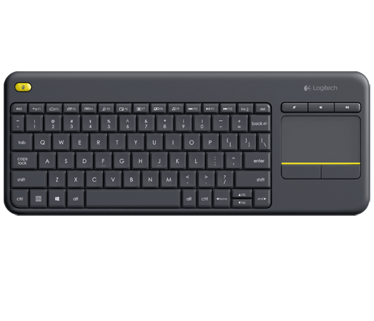 Logitech K400 Plus White Wireless Keyboard with Touchpad & Entertainment Media Keys