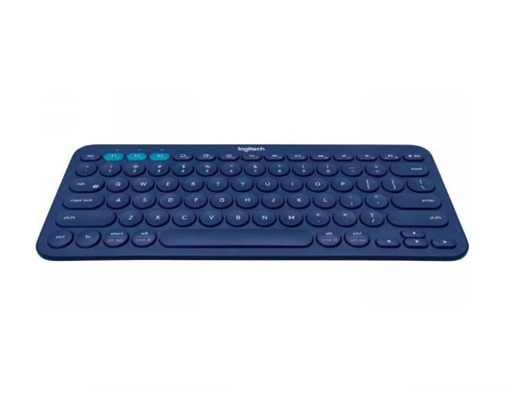 Logitech K380 Multi-Device Bluetooth Keyboard Blue Take-to-type Easy-S