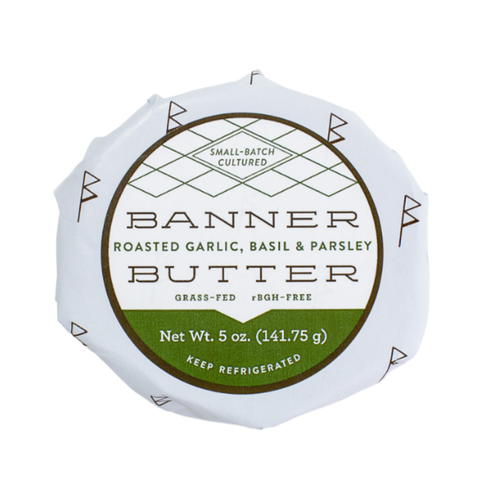 Roasted Garlic, Basil and Parsley Banner Butter 5oz