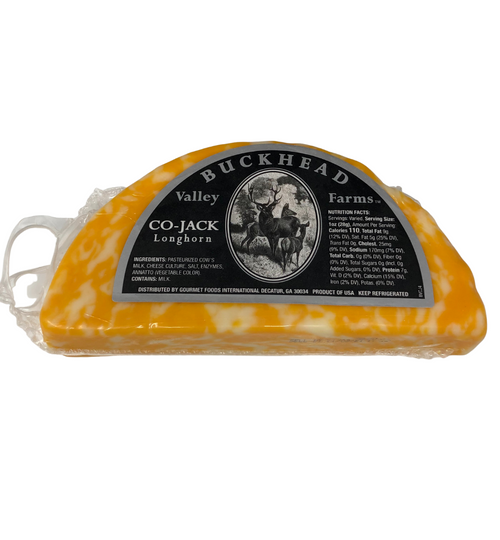 Buckhead Valley Farms Longhorn Style Colby-Jack Cheese