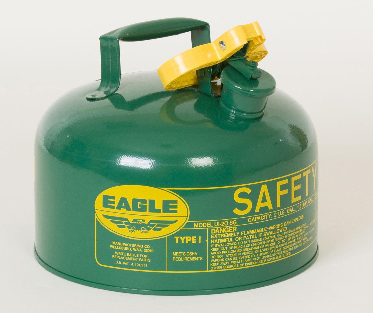 Metal - Green (Oils or Combustibles) - 2 Gal.