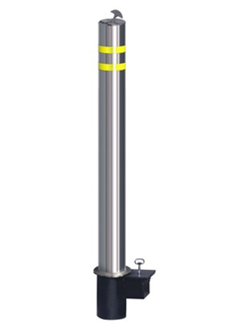 "Innoplast 4.5"" Diameter, Removable Stainless Steel Bollard x 35.4"" H, .138 wall, satin finish"