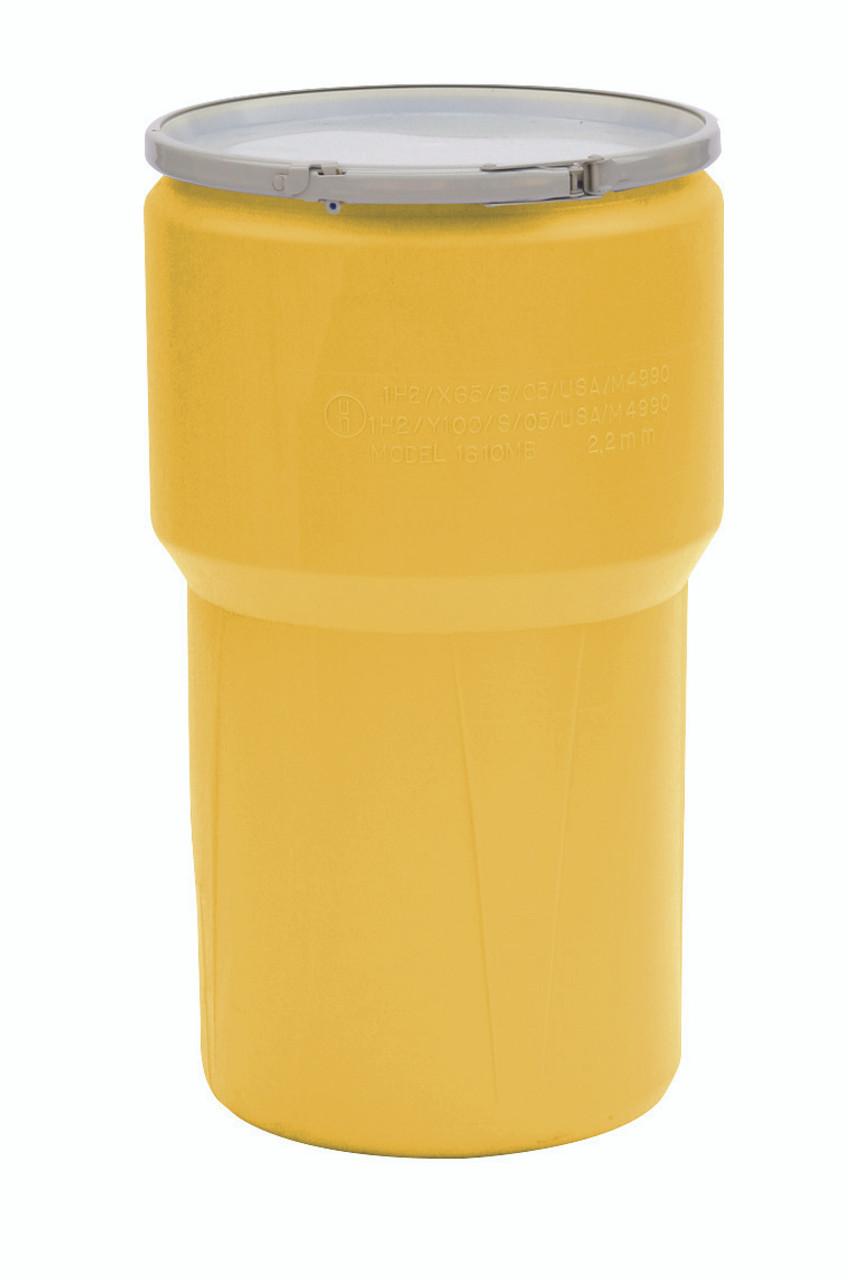 14 Gal. Lab Pack (Yellow) w/Metal Lever-Lock Ring