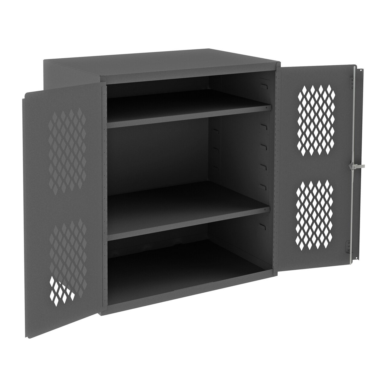 "DURHAM HD Ventilated Storage Cabinet, Gray, 42"" H X 36"" W X 24"" D"