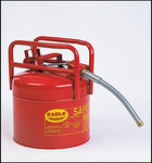 "Red Galvanized Steel Type II Style Safety Can   w/5/8"" Flexible Hose"