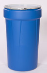 55 Gal. Drum (Blue) Open-Head Tapered w/ Metal Ring