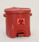 Polyethylene - Red w/Foot Lever - 10 Gal. (945BIO)